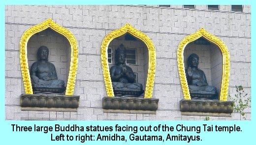 Three Buddhas at Chung Tai