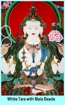 White Tara with Mala Beads