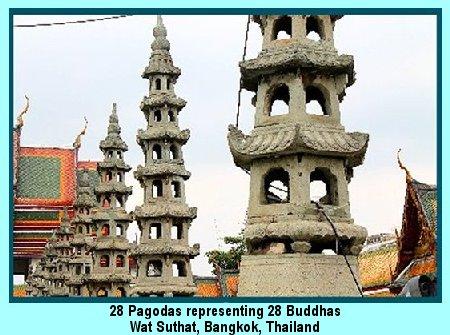 28 pagodas