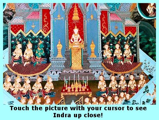 Indra before Buddha